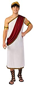 Bristol Novelty- Caesar Costume Adult (XL) Disfraz, Color blanco (AC624X)