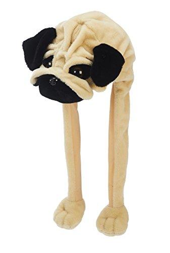 Hunde Kostüm Dachs Für - Plüsch Mütze Mops 55 cm