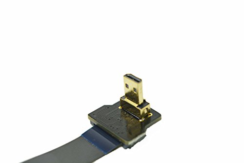 Flaches Schlank FFC HDMI FPV HDMI Kabel Mikro HDMI 90 Grad auf Standard HDMI Full HDMI Normal HDMI für Gopro Sony A7RII A7SII A6500 A9 A6300 (Eine umgekehrte Sockel A6000) DJI 20CM