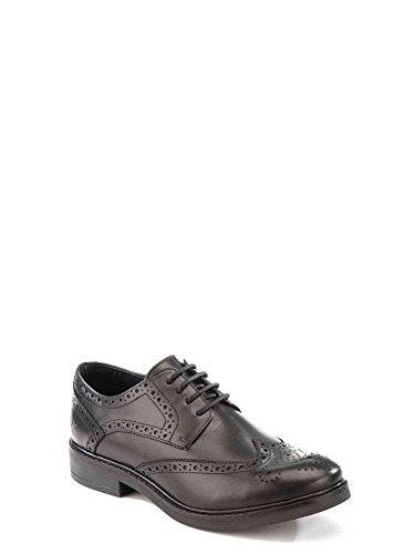 Lumberjack William, Scarpe Stringate Basse Brogue Uomo Nero