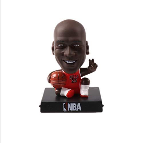 newolfend Super Star Player Michael Jordan Kobe Bryant Curry James Lovely Bobble Testa Giocattoli Sport Bambola Telefono 13cm F