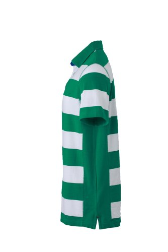 James & Nicholson Herren Poloshirt Polo Men's Maritime Irish-Green/White