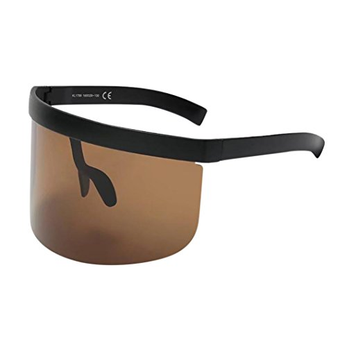 Fashion Unisex Vintage Sonnenbrille Rosennie Damen Retro Oversized Frame Hut Eyewear Anti-Peeping Big Frame Für Herren Frauen Spiegel Reflektierend Brille Big Frame Sonnenbrille Outdoor Brille (E)