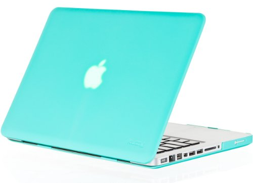 Kuzy - 15-inch Teal / Turquoise Hot BLUE Rubberized Hard Case Cover for MacBook Pro15.4