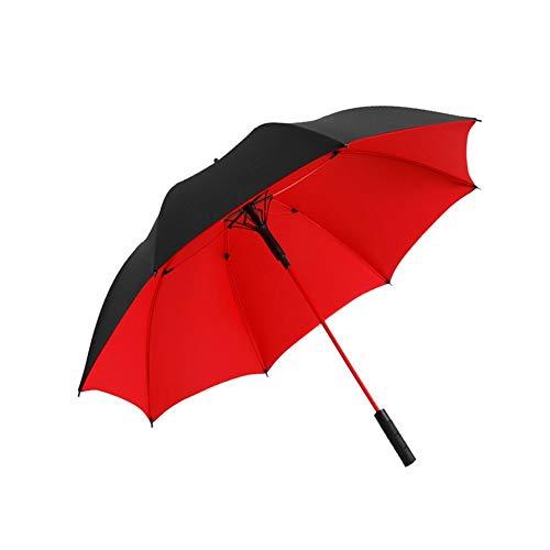 Zdss Golfschirm, Automatikschirm, übergroßer Doppelschirm, Belüftung und winddichter wasserdichter Regenschirm 120 cm (Color : Red)