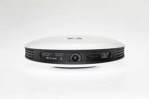 Smart Projector NT83 (Beamer mit AKKU | 4K FullHD 3D fähig | DLP | LED | 300 Zoll | interner 32GB Speicher | Betriebssystem | WLAN | Bluetooth | HDMI | USB | Lautsprecher | portabel | tragbar