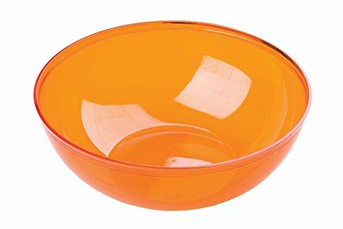 MOZAIK Ciotole rotonde di plastica arancioni da 14 cm, 4 pezzi (400 ml)