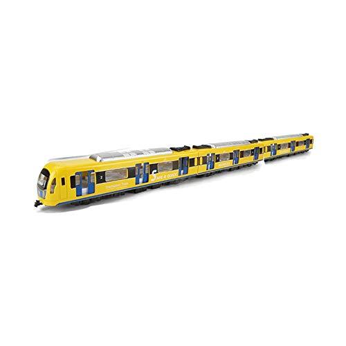 asterisknewly Simulazione 1: 87 Giocattolo per Treni Pendolari Pull Back Set di Automobili Giocattoli in Lega per Treni Ad Alta velocità Metropolitana Leggera Modello di Ferrovia Leggera