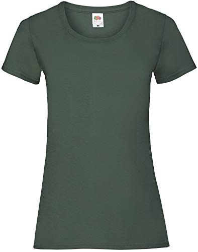 Fruit of the Loom - Lady-Fit Valueweight T - Modell 2013 M,Bottle Green