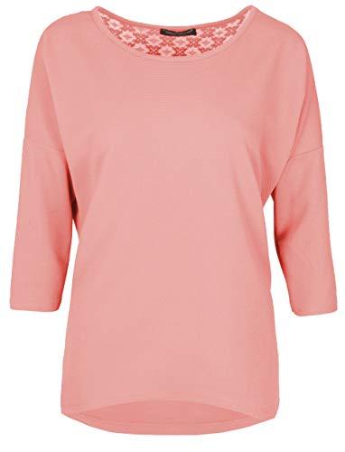 Emma & Giovanni - Sweatshirt/Bluse 3/4 Ärmel für alle Jahreszeiten, Loose Fit - Damen (Spitze-Rosa, L/XL) -