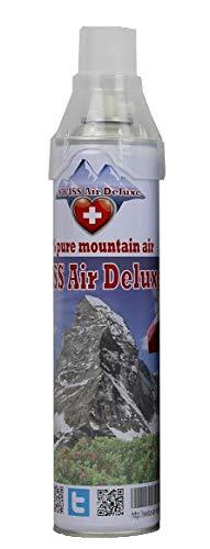 Swiss Air Deluxe - 100% pure & clean mountain air from Switzerland, canned bottled air (100% pure Mountain Air) -