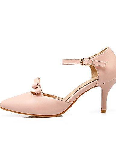 WSS 2016 Chaussures Femme-Soirée & Evénement / Habillé / Décontracté-Noir / Rose / Beige-Talon Aiguille-Talons / Bout Pointu / Bout Ouvert-Talons- pink-us8.5 / eu39 / uk6.5 / cn40