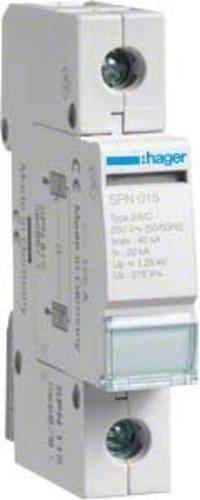 Hager SPN115 Überspannungsleiter 1-polig steckbar 20kA,40kA