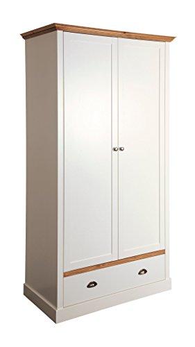 Steens Sandringham Kleiderschrank, 2 Türen, 1 Schublade, 104 x 192 x 58 cm (B/H/T), teilm