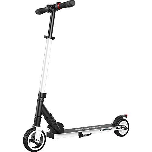 M MEGAWHEELS Scooter-Patinete electrico Adulto y niño, Ajustable la Altura, 5000 mAh, 23km/h.(Blanco)