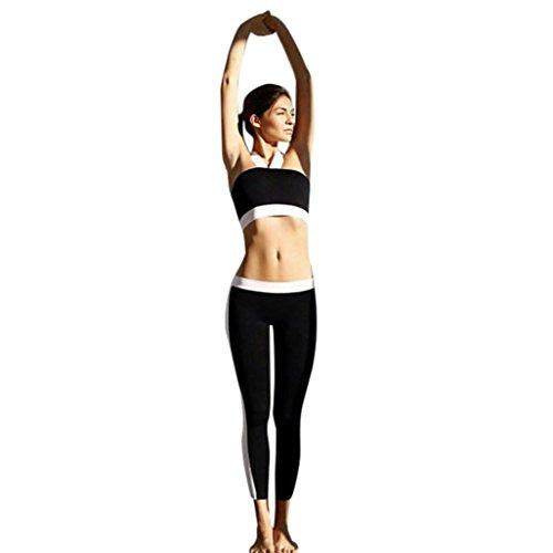 Preisvergleich Produktbild Kaiki Frauen hohe Taille Sport Gym Patchwork Yoga Hosen Running Fitness Leggings Pants Workout Kleidung (S, Black)