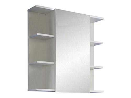 Badezimmer Schrank - Weiß Hochglanz 68 cm