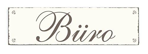SCHILD Dekoschild « BÜRO » Shabby Vintage Holzschild Türschild Büroschild