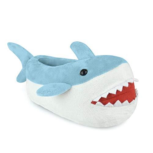 SlumberzzZ Boys Novelty 3D Shark Design Fullback Slippers