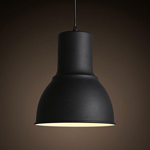 SSBY Moderno e minimalista testa singola lampada ferro smerigliato coperchio nero opaco di veranda camera da letto piccoli lampadari nel Foyer 225*1500mm ,