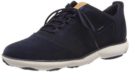 Geox u nebula c, scarpe da ginnastica basse uomo, blu (navy c4002), 39 eu