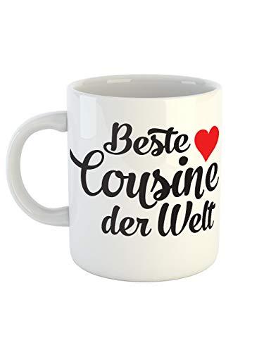 clothinx Kaffeetasse mit Aufdruck Beste Cousine Der Welt