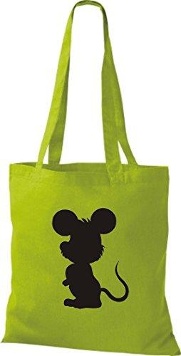 Crocodile souris nagetier pochette, sac shopper sac à bandoulière plusieurs couleurs Vert - Citron vert