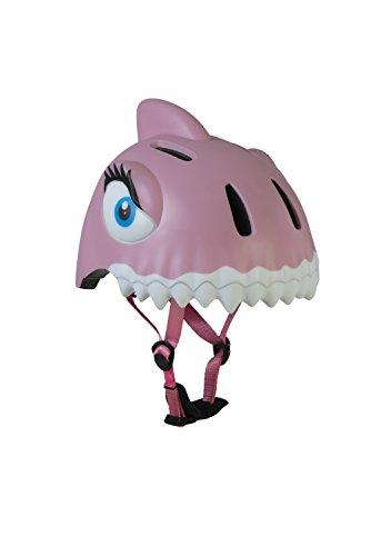 Crazy safety Aqua the Dashing Shark casco para bicicleta niña, rosa, talla S