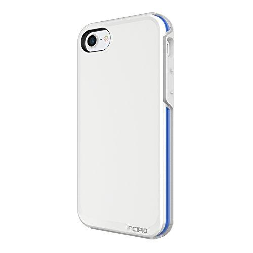 Incipio Performance Series Schutzhülle [Max] für Apple iPhone 7 in grau/gelb [Military Drop Tested | Holster mit Drehclip | Displayschutzfolie | Integrierter Schutzbumber] - IPH-1490-CGY weiß/blau
