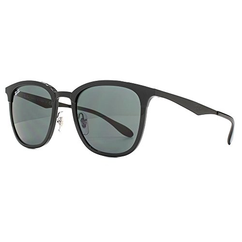 Ray-Ban zwei Ton feine quadratische Sonnenbrille in schwarz matt-schwarz RB4278 628271 51