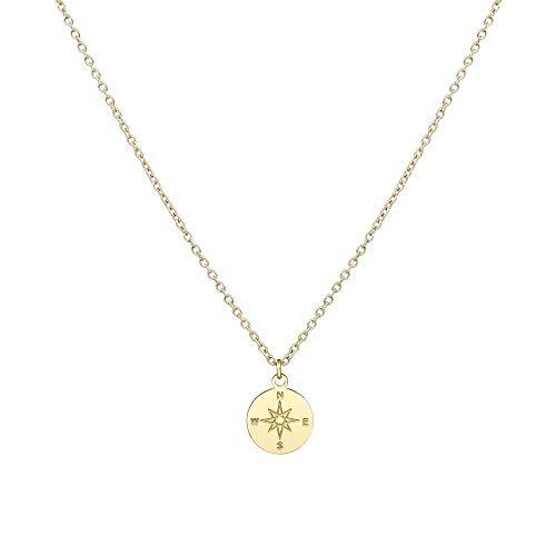 Purelei Halsketten Für Frauen Compass-Gold Kette Damen Schmuck Ketten  Anhänger Geschenke Freundin Halskette Rosegold 4bdcd09db7