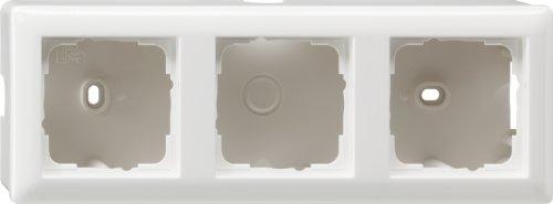Gira 006303 Aufputz-Gehäuse mit Rahmen 3-fach Reinweiß glänzend - Steckdose Gehäuse