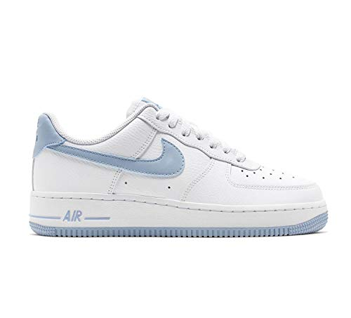 Nike Damen WMNS Air Force 1 '07 Basketballschuhe, Mehrfarbig (White/Lt Armory Blue 104), 40 EU