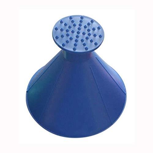 Fensterglas-reinigungs-Werkzeug-schaber-Trichter-windschutzscheiben-magischer Hauptschnee-entferner-Auto-Werkzeug-kegelförmiger Eisschaber, Blau
