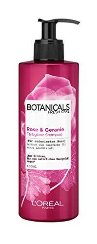 Botanicals Farbglanz Shampoo, ohne Silikon für coloriertes Haar, mit Rose und Geranie, schützt die Haarfarbe und bringt sie zum leuchten, 1er Pack (1 x 400 ml)