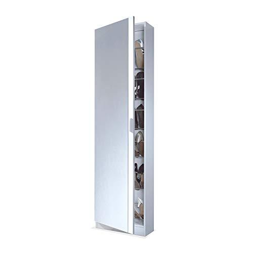 Habitdesign 007866BO - Armario zapatero con espejo