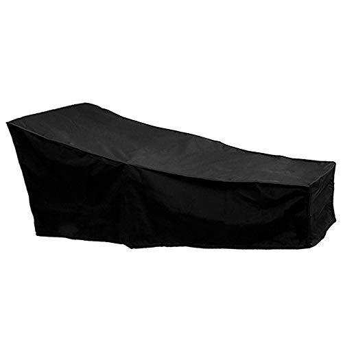 Wrighteu Housses de Chaise Longue de Jardin extérieur étanche Portable Chaise Longue transat Couverture Noir 1pack