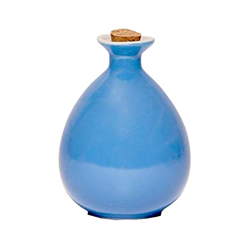 Mini chinesische Keramik Blumenvase Bud Vase Weinflasche, ideales Geschenk für Home Office, Dekor, Tischvasen, Bücherregal Ornamente Flaschen, Leuchtend Blau