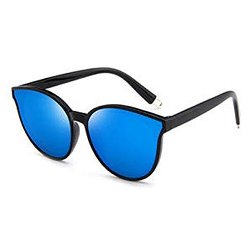 Haiyemao Mode Sonnenbrillen Damen-Sonnenbrillen Flexible Frames Polarized Impact mit Farblinse für Damen und Mädchen Sonnenbrille im Freien Sportler (Color : Blau)