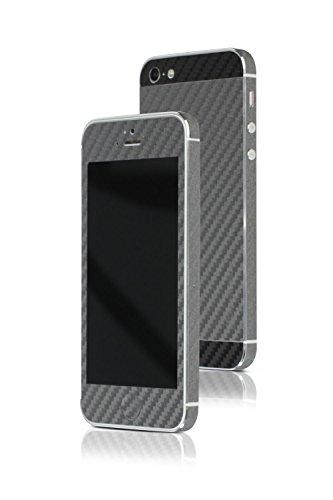 appskins Films Kit iPhone 5/5S/SE carbone Grey/Black