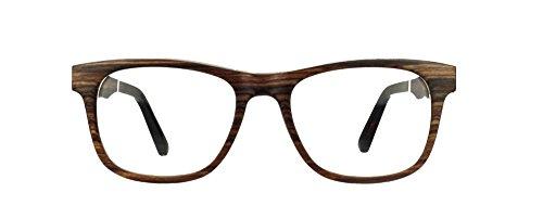 STADTHOLZ Holzbrille Mitte in dunklem, Rosenholz