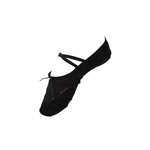 Tonsee® Toile Adulte chaussures de Ballet danse Pointe chaussons de