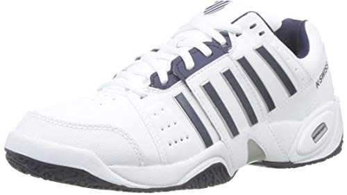 K-Swiss Performance KS Tfw Accomplish III Omni, Scarpe da Tennis Uomo, Bianco (White/Navy 37), 49 EU