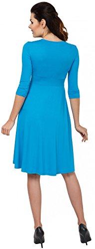 Zeta Ville - Maternité Robe trapèze grossesse poches allaitement - femme - 784c Turquoise