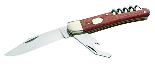 Hartkopf-Solingen Erwachsene Taschenmesser, 3-TLG, Stahl 1.4034, Rotholz, Neusilberbacken Mehrfarbig, One Size