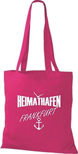 Shirtstown Stoffbeutell Heimathafen Frankfurt viele Farben pink
