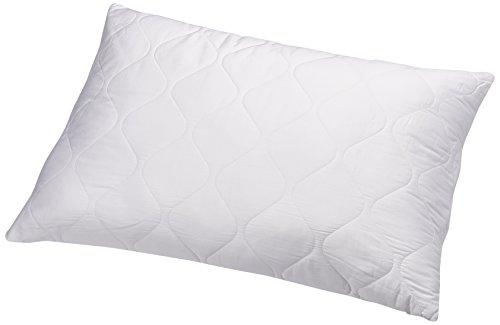 AmazonBasics - Almohada de microfibra, funda de algodón, acolchada 50 x 75 cm, 2 unidades
