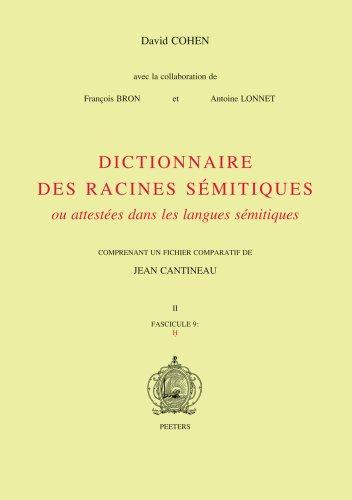 Dictionnaire des racines sémitiques ou attestées dans les langues sémitiques : Fascicule 9