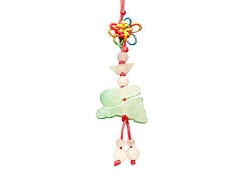 Amuleto–horóscopo CHINO FENG SHUI Lucky Jade Tallada a mano conejo charms, dinero Talisman teléfono celular charms