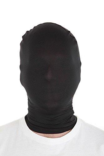 (B-Creative Ausverkauf! Morphmaske 9 Farben ideal für ausgefallene Kleidung Kostüm billige Maske von Morphsuit (Schwarze morphmaske O/S))